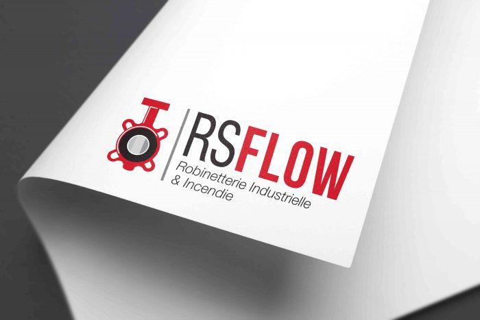 Mockup logo RS Flow